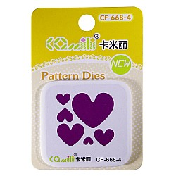 Patterned Dies (Small) - Multiple Hearts