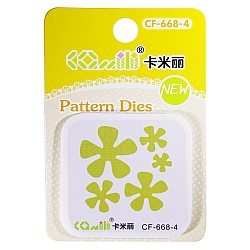 Patterned Dies (Small) - Multiple Flowers Design 4