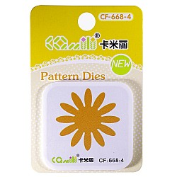 Patterned Dies (Small) - Flower Design 1