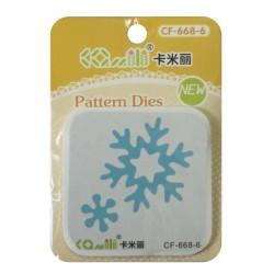 Patterned Dies (Large) - Snowflake and flower