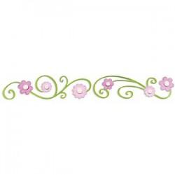 Sizzix Sizzlits Decorative Strip Die - Flowers w/Swirly Vine
