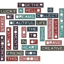 Sizzix Thinlits Dies By Tim Holtz 30/Pkg - Pondering Words