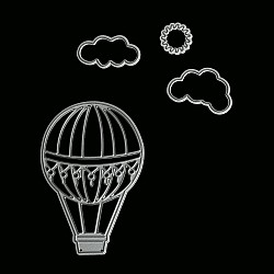 Steel Dies - Air Balloon with Clouds and Sun