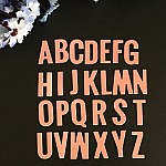 Steel Dies - Alphabet Dies (A to Z) - Uppercase