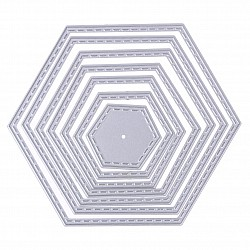 Steel Dies - Frame Set (Set of 7 dies) - Hexagon