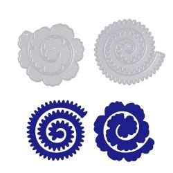 Steel Dies - Different Rolled Flowers  (Set of 2 dies) (XY800)