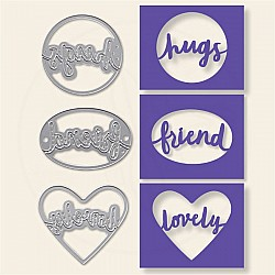 Steel Dies - Sentiment Shapes (Set of 3 dies)