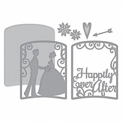 Steel Dies - Couple on Wedding Day scene Die (Set of 2 dies)