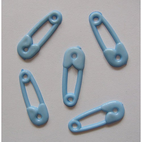 Baby Plastic Clips - Baby Blue