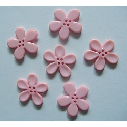 Plastic Flower Buttons - Pink