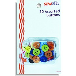 Sewrite 50 Assorted Buttons