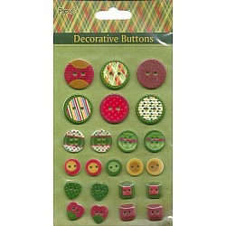 Decorative button pack - Brights