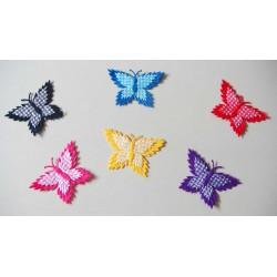 Assorted Checkered Butterflies - Dark Collection