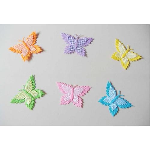 Assorted Checkered Butterflies - Light Collection