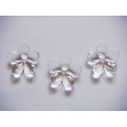 Plastic Flowers - White (Pack of 10 flowers)