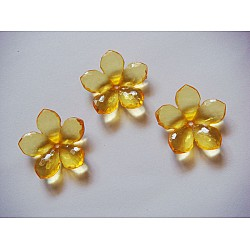 Plastic Flowers - Yellow (Pack of 10 flowers)