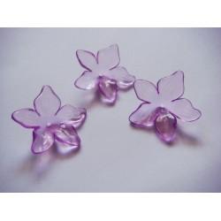 Plastic Curled Flowers - Lavendar (Pack of 10 flowers)