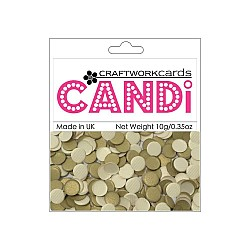 CraftWorkCards Candi Printed Embellishments - Texture Gold