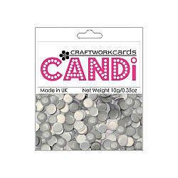 CraftWorkCards Candi Printed Embellishments - Texture Silver