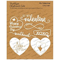 CrafTangles Chipboard Cuts - My Valentine