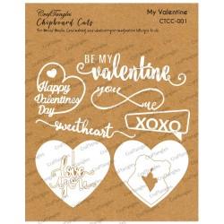 CrafTangles Chipboard Cuts - My Valentine