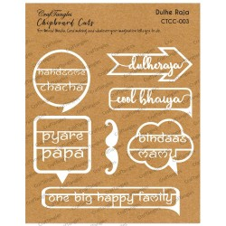 CrafTangles Chipboard Cuts - DulheRaja (Groom)