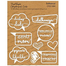 CrafTangles Chipboard Cuts - Dulhania (Bride)