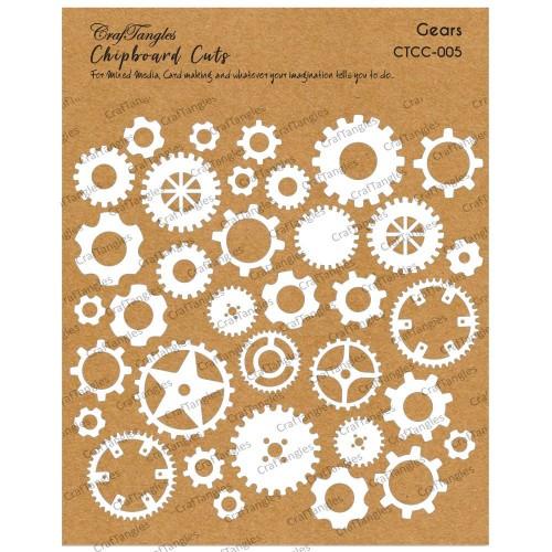 CrafTangles Chipboard Cuts - Gears