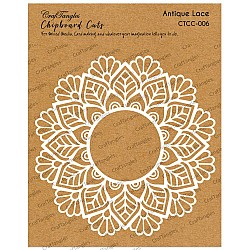 CrafTangles Chipboard Cuts - Antique Lace