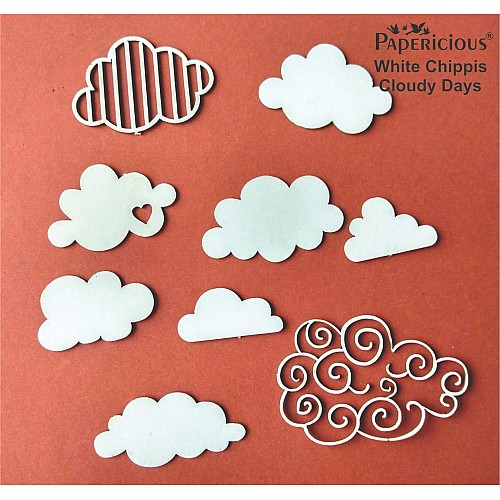 Papericious White Chippis - Cloudy Days