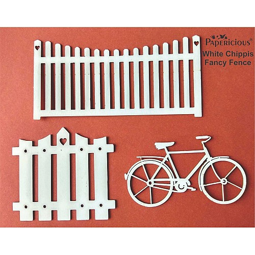 Papericious White Chippis - Fancy Fence