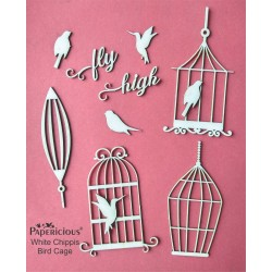 Papericious White Chippis - Bird Cage