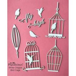 Papericious White Chippis - Bird Cage