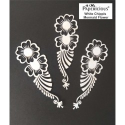 Papericious White Chippis - Mermaid Flower