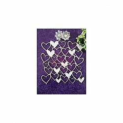 Papericious Chipboard Elements - Heart Mesh