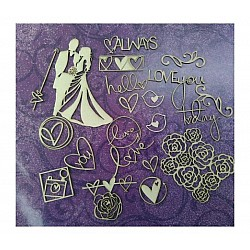 Papericious Themed Chipboard Elements - Wedding