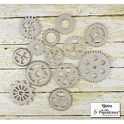 Papericious Collage Chipboard Elements - Gears