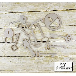 Papericious Collage Chipboard Elements - Keys