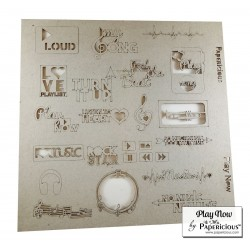 Papericious Themed Chipboard Elements - Play Now