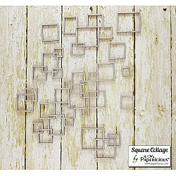 Papericious Collage Chipboard Elements - Square Collage