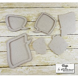 Papericious Collage Chipboard Elements - Tags