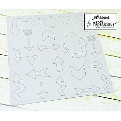 Papericious Collage Chipboard Elements - Arrows
