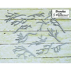 Papericious Collage Chipboard Elements - Branches