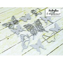 Papericious Collage Chipboard Elements - Butterflies