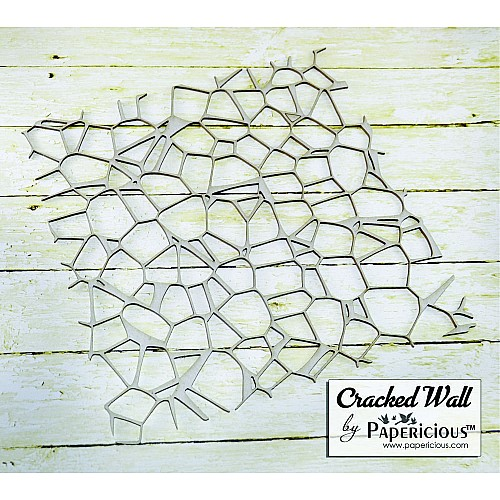 Papericious Chipboard Elements - Cracked Wall