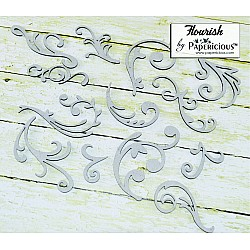 Papericious Collage Chipboard Elements - Flourishes