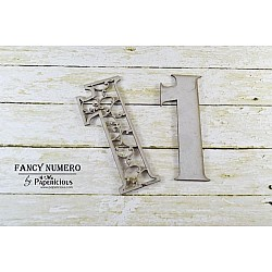 Papericious Layered Chipboard Numbers - 1