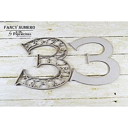 Papericious Layered Chipboard Numbers - 3