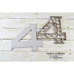 Papericious Layered Chipboard Numbers - 4