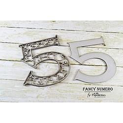 Papericious Layered Chipboard Numbers - 5